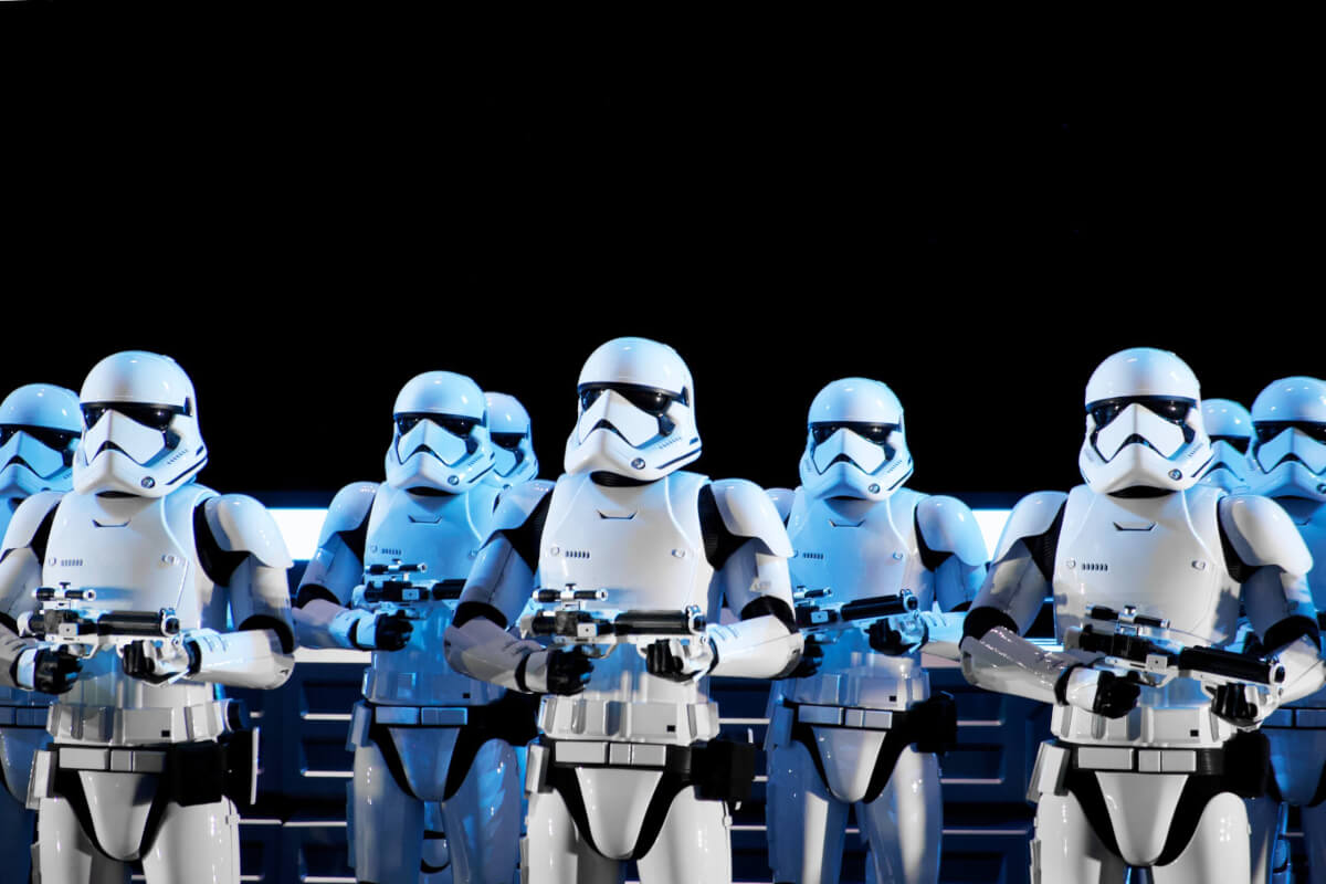 Group photo of stormtroopers