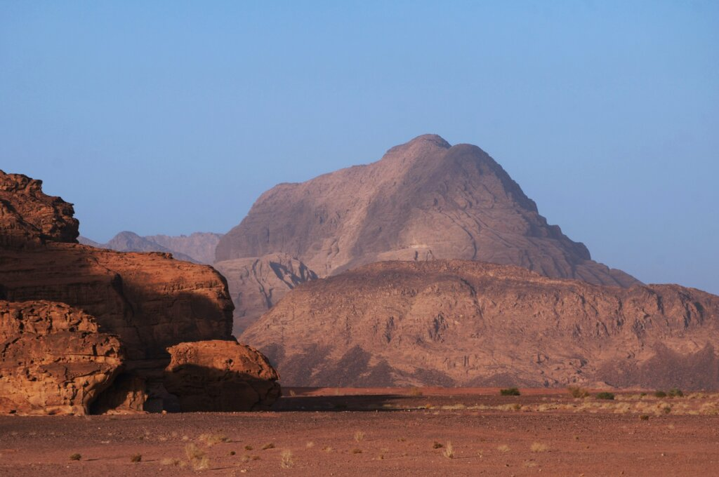 Rocky mountains of Wadi Rum