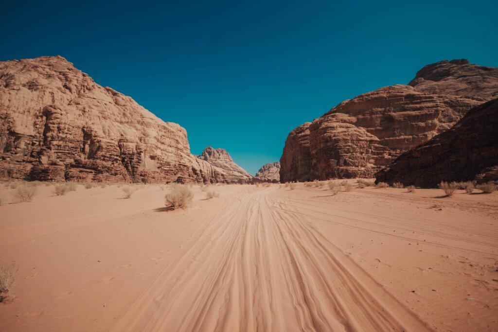Wadi Rum sand landscape