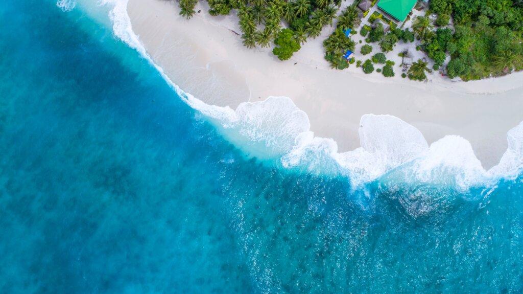 Maldives aerial shot