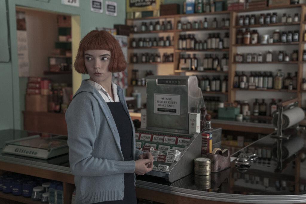Beth at cash register