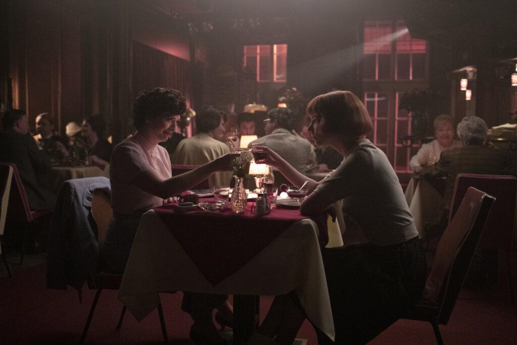 Rias Bar The Queen's Gambit scene