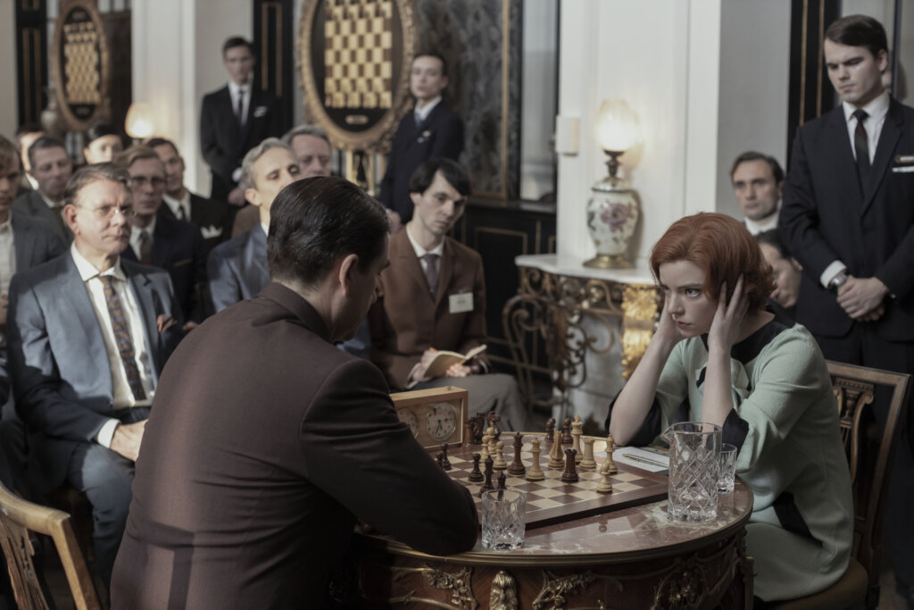 Beth and Borgov play chess