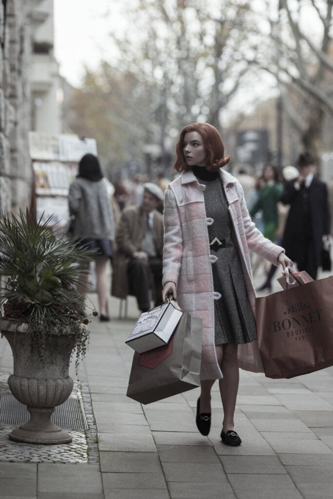 Beth shopping in Paris