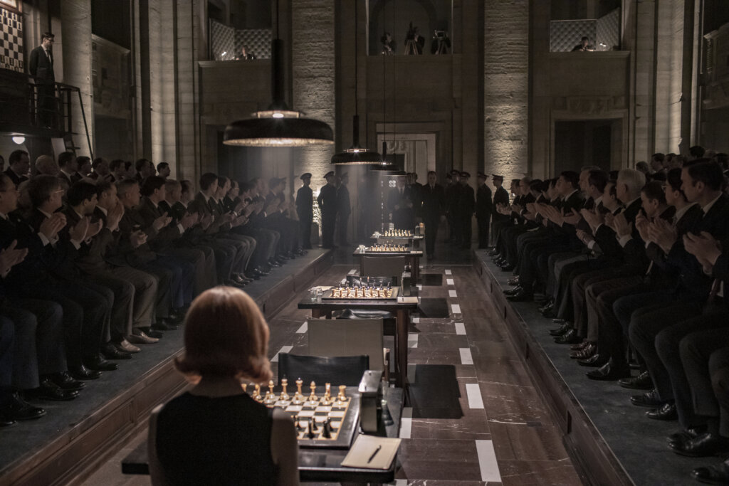 Final chess tournament in The Queen's Gambit, Moscow