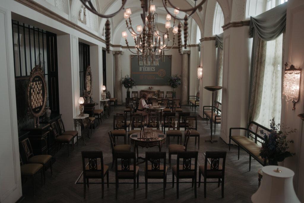 Chess tournament hall in Paris