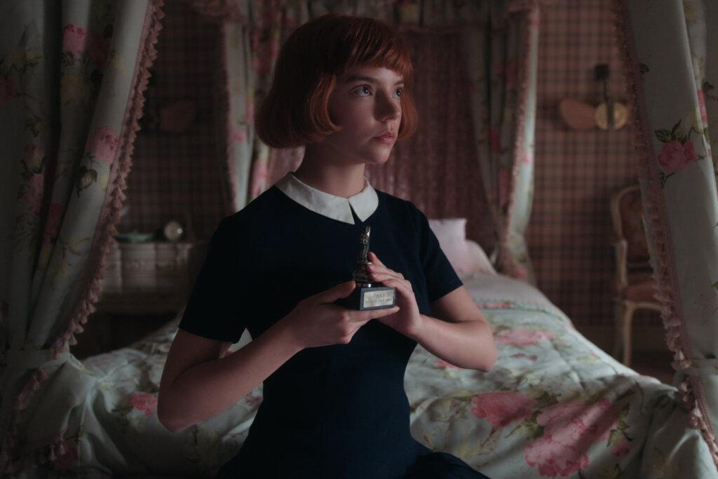 The Queen's Gambit inside of Beth's room