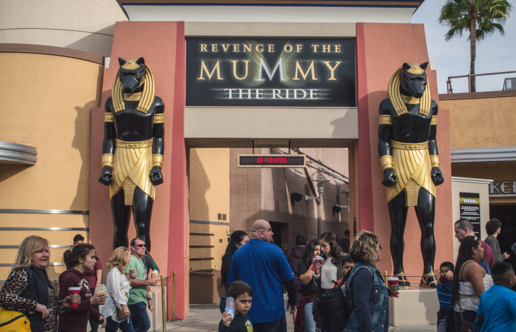 Universal Studios Hollywood Revenge of the Mummy entrance