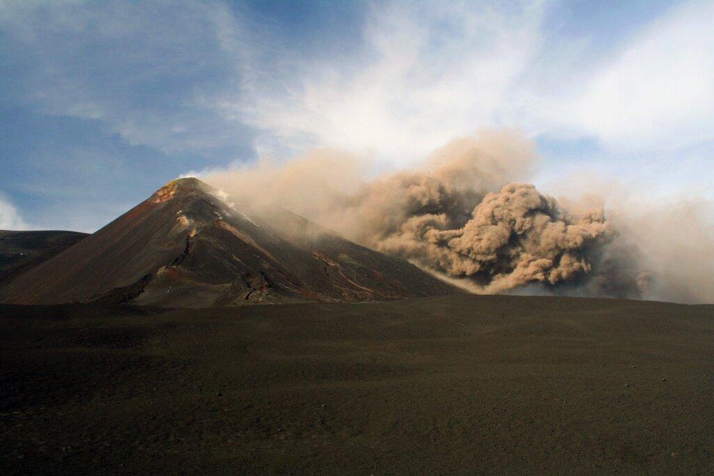 Mount Etna provided the explosive lava for Revenge of the Sith